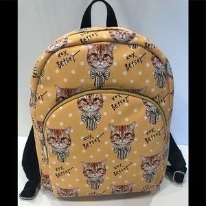Backpack Betsey Johnson orange tabby kitty